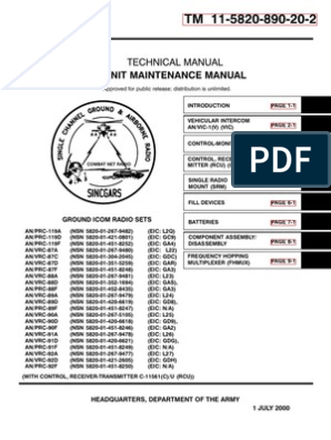 064245 USArmy ICOM Radio Maintenance   Troubleshooting