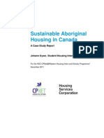 Sustainable Aboriginal Housing in Canada - A Case Study