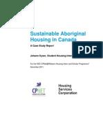 Sustainable Aboriginal Housing in Canada - A Case Study Johann Kyser