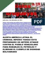 Noticias Uruguayas miércoles 4 de diciembre del 2013
