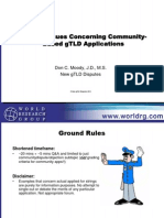 WRG New gTLD Conf Presntn DMoody SpecialIssues Re Commtys 09092012