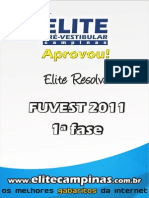 Elite Resolve Fuvest 1fase 2011