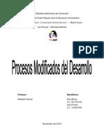 Procesos Modificados Del Desarrollo