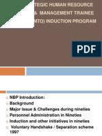 NBP - SHRP & MTO Induction Program