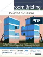 Boardroom Briefing - Mergers & Acquisitions