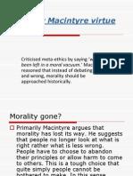 Alasdair Macintyre Virtue Ethics