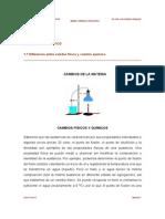 Cambio de La Materia Fisicos y Quimicos