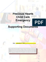 child care emergency supporting documents from pa