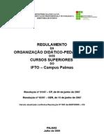 Organização Didático Pedagógica - IFTO - Tecnológicos Superiores