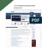 Identificación de las vulnerabilidades de seguridad principales