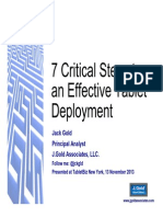 Seven Critical Steps to Tablet Deployment , by Jack Gold