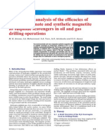 Comparative analysis of the efficacies of ferrous gluconate and synthetic magnetite as sulphide scavengers in oil and gas drilling operations