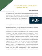 Algunos Temas Acerca de La Frontera Norte de Mexico Durante El Siglo XIX