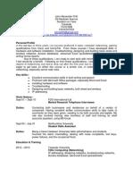 Networking CV