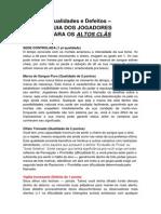 QUALIDADES E DEFEIOS - VAMPIRO IDADE DAS TREVAS - 3ª EDIÇÃO