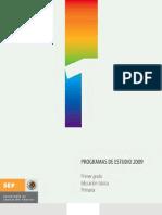 Programas de estudio 2009 Primer grado Educación básica Primaria