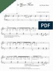 WHEN I WAS YOUR MAN Bruno Mars Piano Music Sheet Score