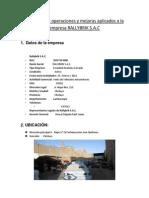Diagrama de Operaciones y Mejoras Aplicados a La Empresa RALLYBRIK