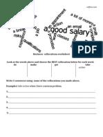 Esl Business Collocations Worksheet
