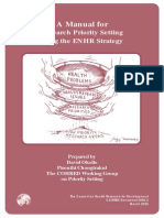 manual for research prority setting