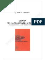 Storia Della Massoneria in Italia Dalle Origini Alla Rivoluzione Francese