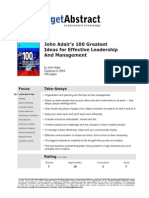 John Adairs 100 Greatest Ideas for Effective Leadership e