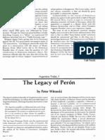 The Legacy of Perón.