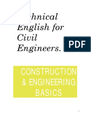 Technical English for Civil Engineers Construction Basics | Civil