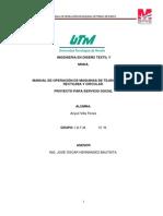 Manual de Operacion de Maquina de Tejido de PuNTO TERMINADO