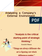 Analyzing External Environment