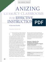 organizing literacy classroom