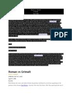 Roman vs Grimalt