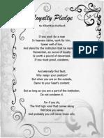 Loyalty Pledge