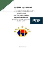Acuerdos de Convivencia Escolar y Comunitaria Actual 2013-2014