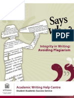 says who -  integrity in writing