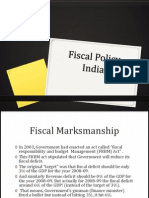 Fiscal Policy India