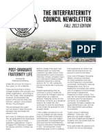 IFC Newsletter Fall 2013
