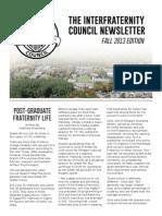 IFC Newsletter Fall 2013