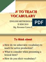 how to teach vocabulary