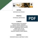 """Practica No.2 Metodos Electricos- """"potencial espontaneo"""""""