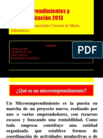 Microemprendimientos y comercialización 2013 PLAN DE NEGOCIOS GRUPO 1