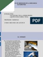 instrumentos de medición en la Mecánica Automotriz