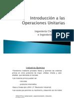 Introducción a las OperacionesUnitarias