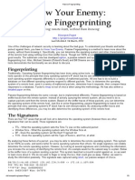 Know Your Enemy - Passive Fingerprinting
