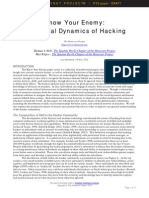 Know Your Enemy - Holt and Kilger - KYE - The Social Dynamics of Hacking