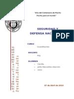 Seguridad y Defensa Nacional33