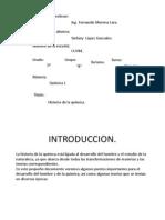 Historia de La Quimica.[1]