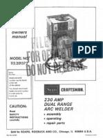 Craftsman 30-230 Arc Welder