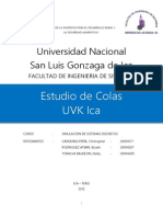 Estudio de Colas UVK Ica