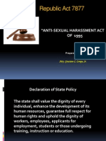 Powerpoint RA 7877 Anti-Sexual Harassment Act of 1995 Final 8feb13